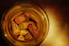 Glass Jar and Wine Corks