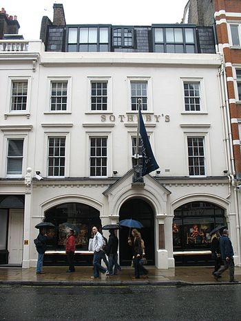 Sotheby's office in New Bond Street, London