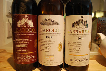 English: 3 bottles of Bruno Giacosa: Barolo ri...